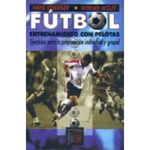 Fútbol entrenamiento con pelotas
